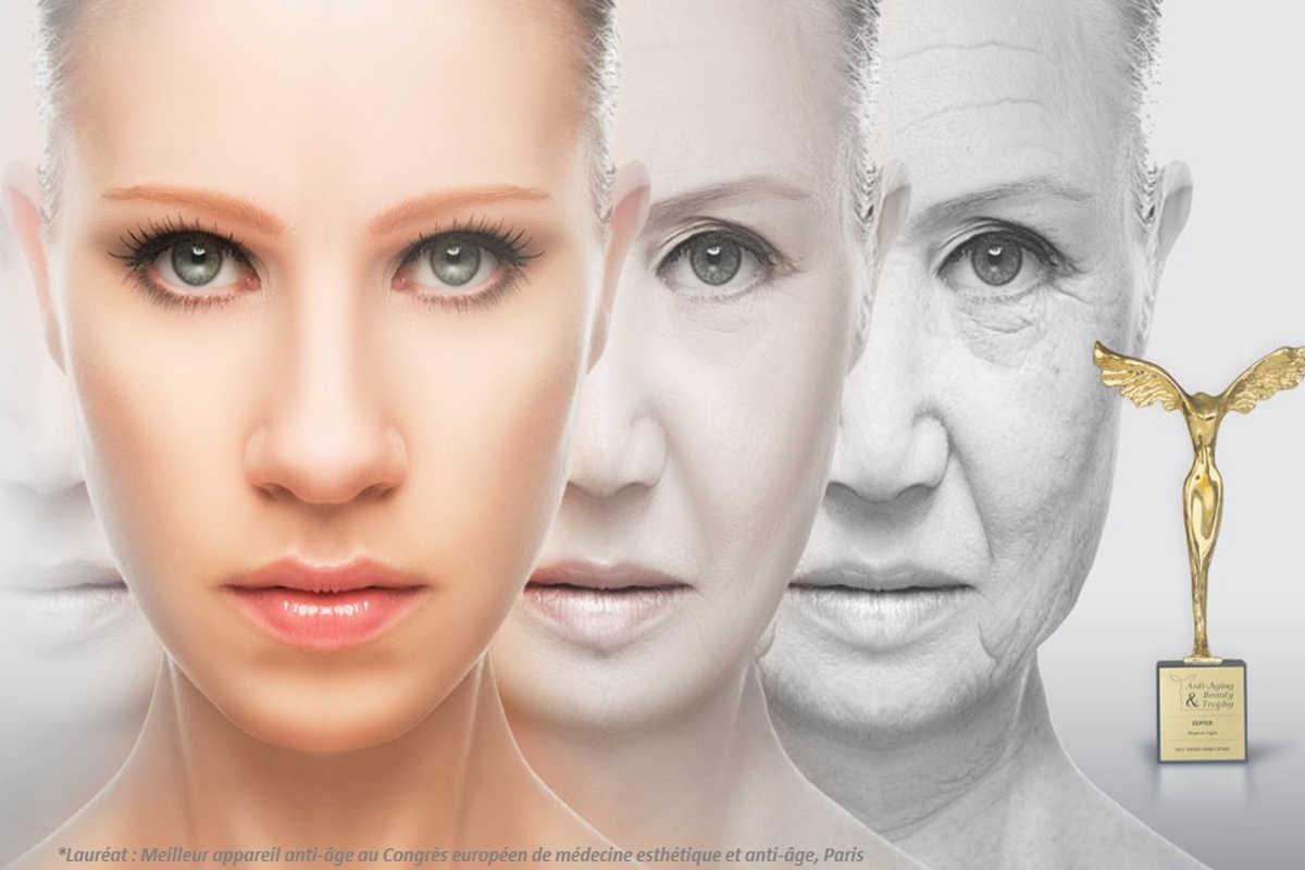 La photothérapie professionnelle sans UV est dans votre institut de beauté de Genève. Cette technologie de photothérapie médicale Bioptron est une petite révolution dans le domaine des soins de peau et dans le traitement des signes de vieillissement cutané. La photothérapie anti-âge permet de booster nos protocoles de soins. Par ailleurs, son action anti-inflammatoire permet de traiter les inflammation comme l'acné. Dans ce dernier cas, le traitement par la lumière bleue agit comme un antibactérien en s'attaquant à la bactérie P.Acnes.